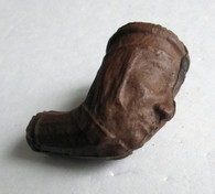Civil War clay pipe bowl with face