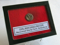 Button recovered from the Sherfy Farm, Gettysburg (SOLD)