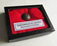Confederate North Carolina button from Antietam (SOLD)
