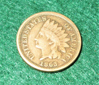 "Civil War One-Cent coin, Gettysburg date ""1863"""