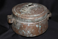 18th - 19th Century Hammered Copper Pot, with lid