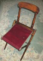 Civil War Carpet Seat Folding Camp Chair, as in museum