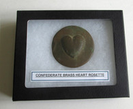 Confederate Heart Cavalry/Officer's Rosette (SOLD)