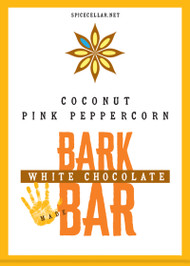White Chocolate Coconut Pink Peppercorn Bark