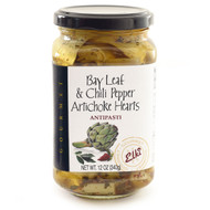 Bay Leaf and Chili Pepper Artichoke Hearts