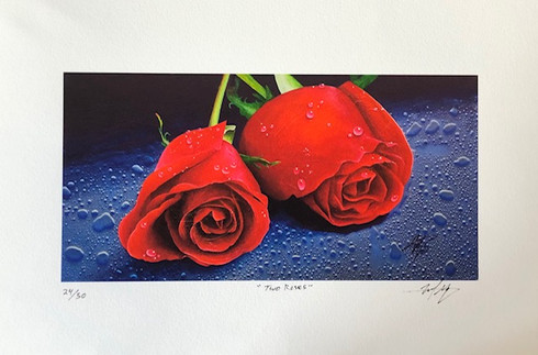 Two Roses by Michael Goldzweig