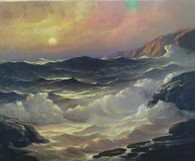 Seascape (unframed) by Listed Illinois Artist, Leonard Rodowicz