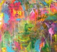 Rainbow Explosion In Her Mind by Kathleen Heitmann