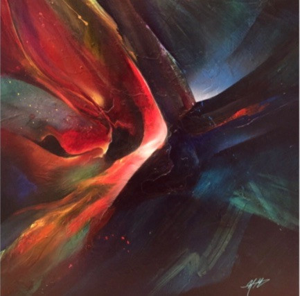 """Elysium by Michael Goldzweig. 36"""" x 36"""" Acrylic on canvas."""