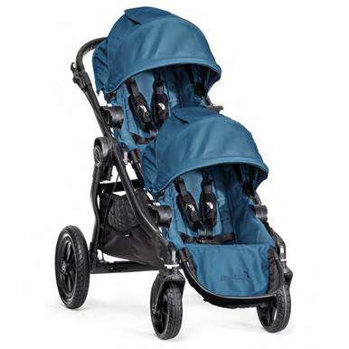 Baby Jogger City Select Double Stroller 2014 in Teal/Black Frame
