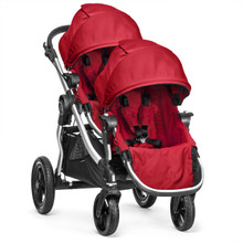Baby Jogger City Select Double Stroller 2018 in Ruby - SHIPS NOW