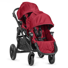Baby Jogger City Select Double Stroller Red/Black Frame 2014 BJ23436, BJ03436