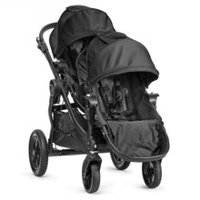 Baby Jogger City Select Double Stroller 2018 in Black/Black Frame - SHIPS NOW