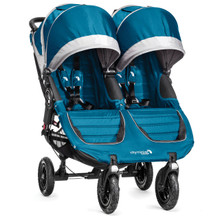 Baby Jogger City Mini GT Double Stroller 2018 in Teal/Gray - SHIPS NOW