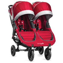 Baby Jogger City Mini GT Double Stroller 2017 in Crimson/Gray - SHIPS NOW!