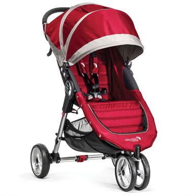 City Mini Single Stroller by Baby Jogger 2014 in Crimson/Grey