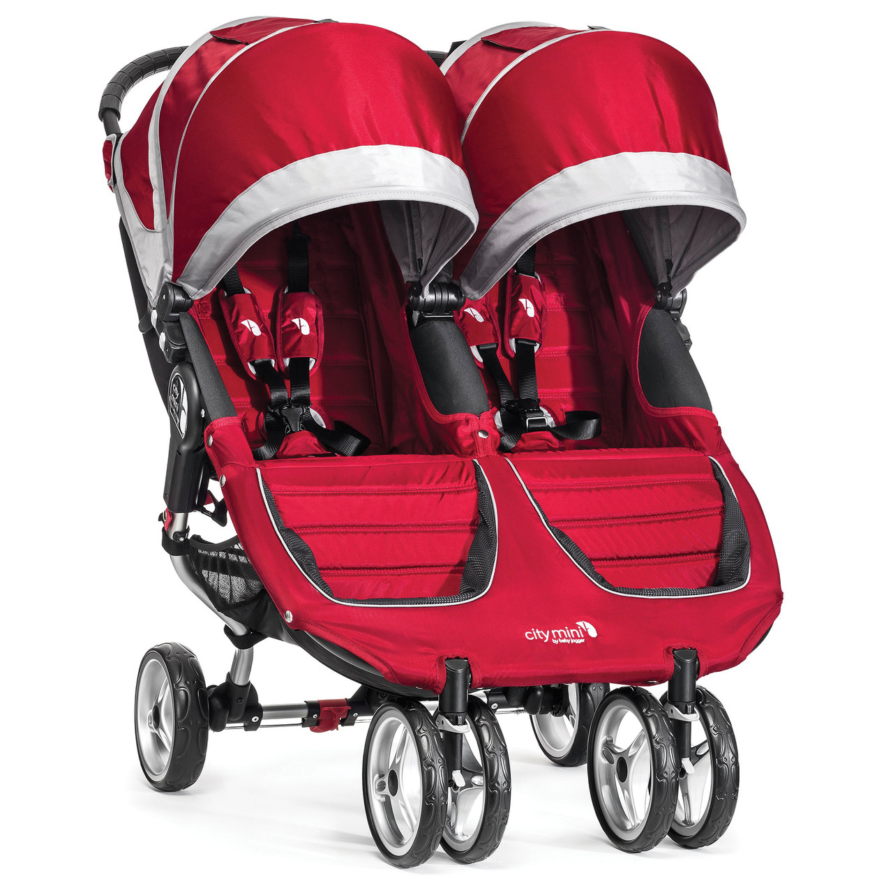 City Mini Double Stroller By Baby Jogger 2017 In Crimson
