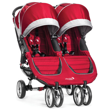 City Mini Double Stroller By Baby Jogger 2017 In Crimson Grey Ships Now