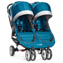 City Mini Double Stroller by Baby Jogger 2014 in Teal/Grey