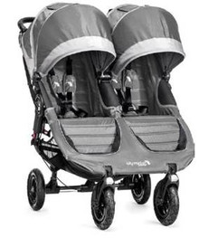 Baby Jogger City Mini GT Double Stroller 2018 in Steel Gray - SHIPS NOW!!!