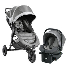 Baby Jogger 2018 City Mini GT Travel System in Steel Gray (Stroller, Car Seat and Car Seat Adapter - SHIPS NOW