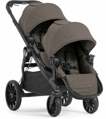 Baby Jogger City Select LUX Double Stroller 2020 in Taupe Brown - Ships Now!!!