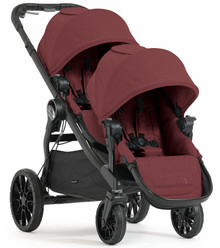 Baby Jogger City Select LUX Double Stroller 2018 in Port Maroon - Ships Now!!!