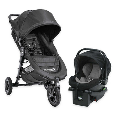 Baby Jogger 2017 City Mini GT Travel System In Black Stroller Car
