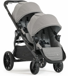 Baby Jogger City Select LUX Double Stroller 2017 in Slate Grey - OPEN BOX - Ships  Now!!!