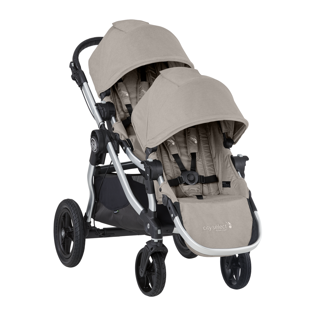 2019 Baby Jogger City Select Double Stroller Paloma Beige