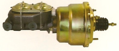 """7"""" dual diaphragm power booster with dual master cylinder"""