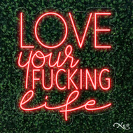 Love your fucking life 21x24x1in. LED Neon Flex Sign-LF037
