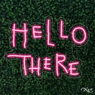 Hello There 27x20x1in. LED Neon Flex Sign-LF040