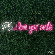 PS I love your smile 48x13x1in. LED Neon Flex Sign-LF067