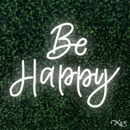 Be Happy 24x19x1in. LED Neon Flex Sign-LF089