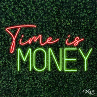 Time is Money 36x20x1in. LED Neon Flex Sign-LF095
