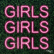 Girls Girls Girls 24x24x1in. LED Neon Flex Sign-LF098