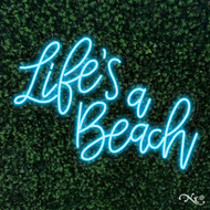 Lifes a Beach 30x22x1in. LED Neon Flex Sign-LF099