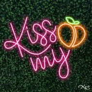 Kiss my peach 31x24x1in. LED Neon Flex Sign-LF111