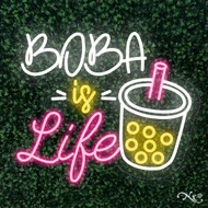 Boba is Life 24x21x1in. LED Neon Flex Sign-LF131