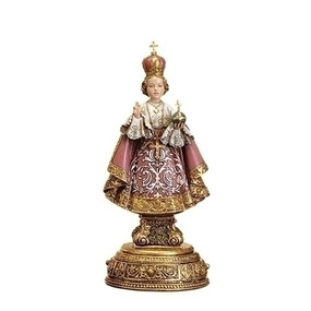 "Infant of Prague Statue with Prayer Drawer (9.5"")"