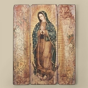 "Our Lady of Guadalupe Wall Plaque (17"")"