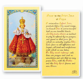 Infant of Prague Laminated Holy Card