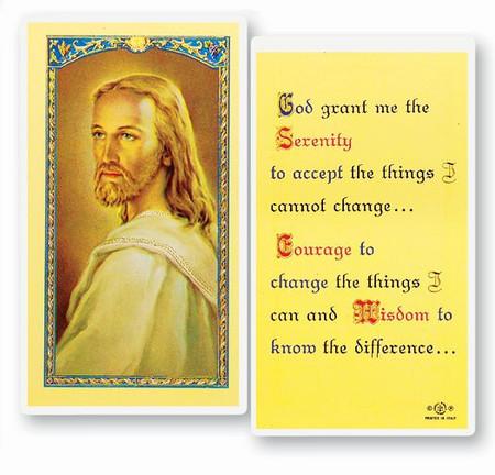 Serenity Prayer Laminated Holy Card