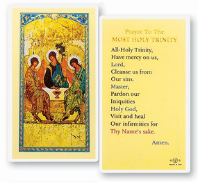 Prayer to the Most Holy Trinity Laminated Holy Card