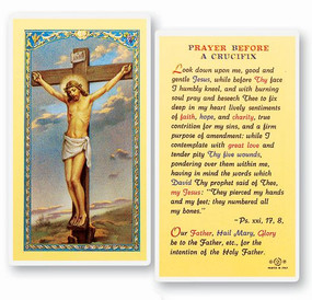 Prayer Before A Crucifix Laminated Holy Card
