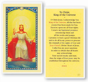 Christ King of the Universe Laminated Holy Card