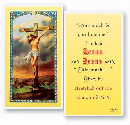 I Asked Jesus Laminated Holy Card