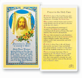 Holy Face Prayer Laminated Holy Card