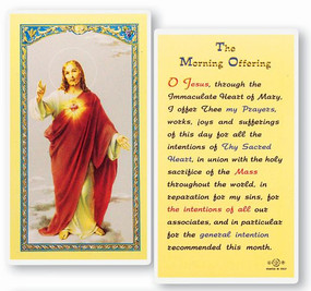 Morning Offering Laminated Holy Card